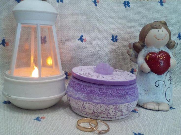 Свадебная шкатулка в стиле прованс ручной работы купить в Украине. №82921