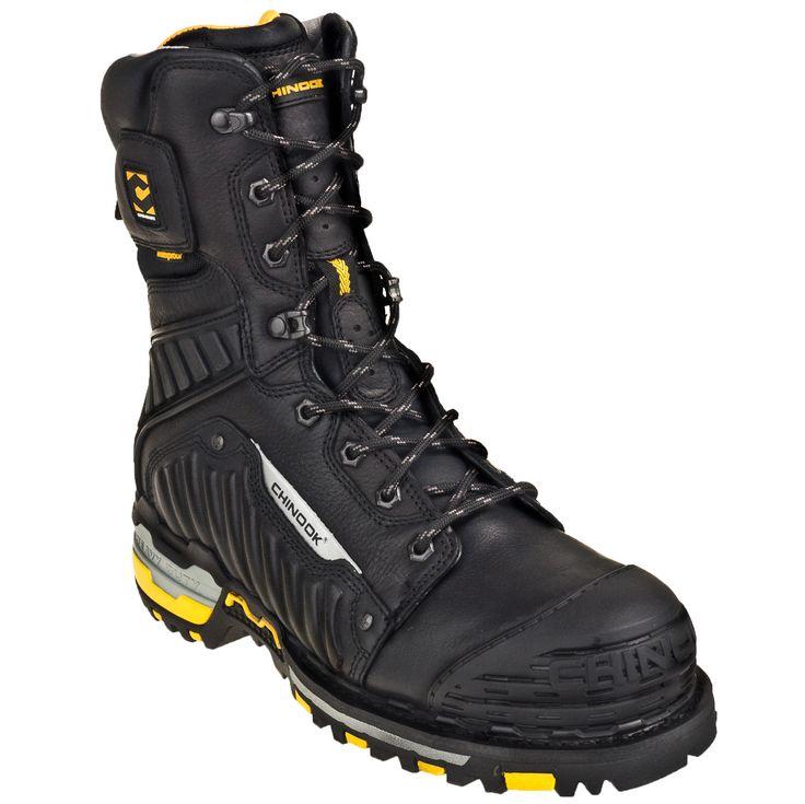3bed30af251 Chinook Men's Waterproof Scorpion II 9-Inch 9836 001 Steel Toe Work ...
