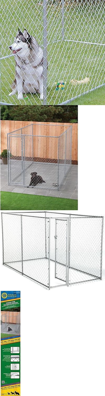 1000 ideas about chain link dog kennel on pinterest dog for Dog fence enclosure
