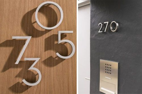 Modern house numbers house numbers numbers and modern for Modern house numbers