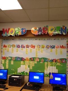 Word Garden for Garden Theme Classroom  www.teacherinspired.blogspot.com