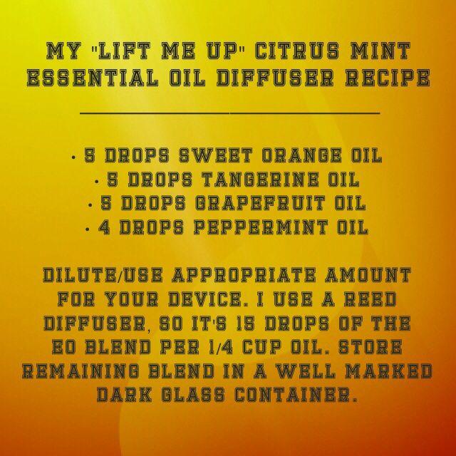 """Lift Me Up"" Citrus Mint Essential Oil Diffuser Recipe http://www.mydoterra.com/renitafullam/ doterra essential oils"