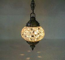 White Mosaic Hanging Lamp Turkische Lampen Moroccan Lantern Lampe Mosaique E 13