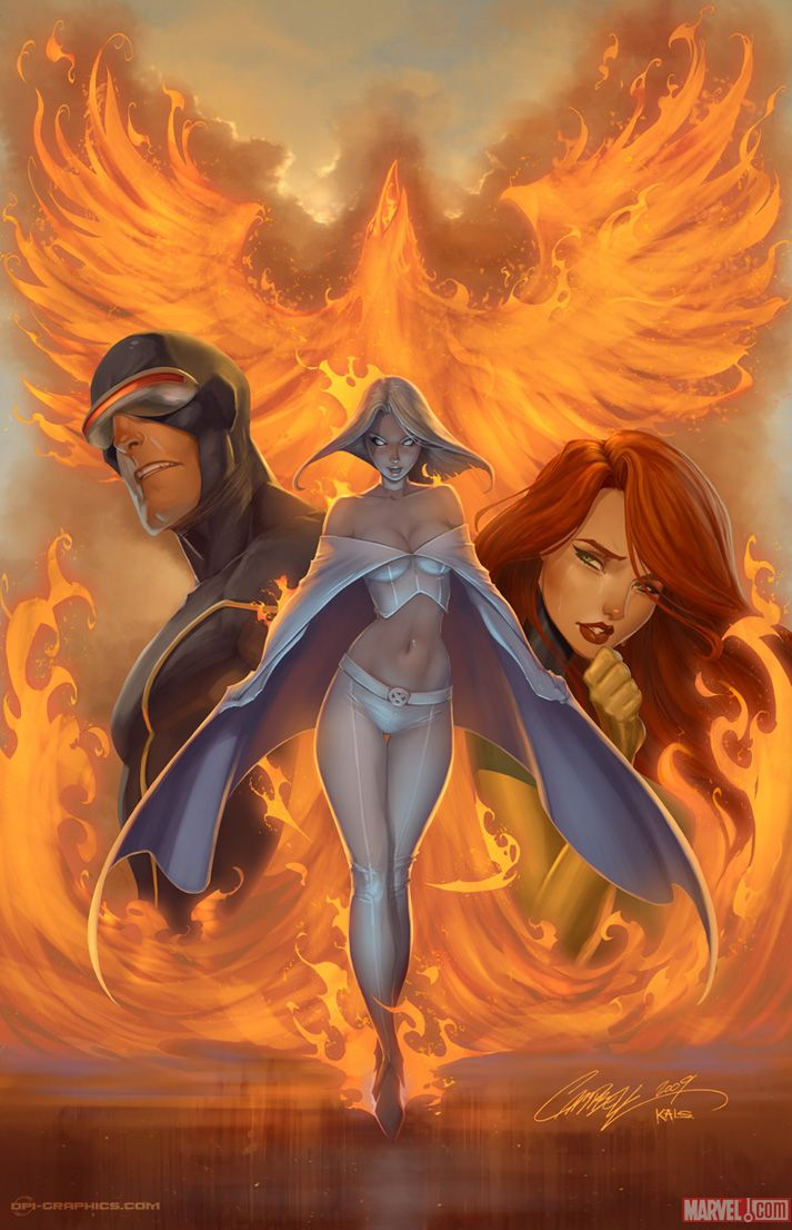 X-Men: Cyclops, Emma Frost, Phoenix (Jean Grey)