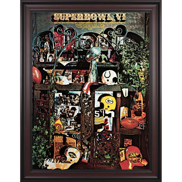 "Fanatics Authentic 1972 Cowboys vs. Dolphins Framed 36"" x 48"" Canvas Super Bowl VI Program - $299.99"