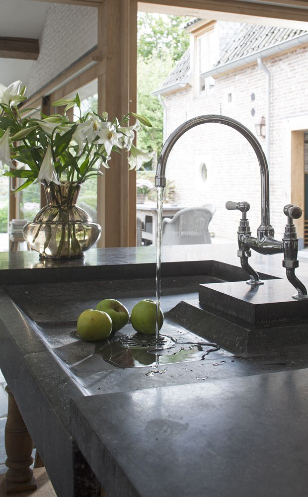 This island prep sink proves that when it comes to concrete countertops with integrated sinks, your imagination is the only limitation...: