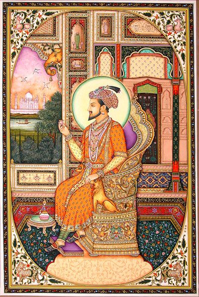 Mughal miniature paintings. A delight to see. Miniatures are soo difficult to make.