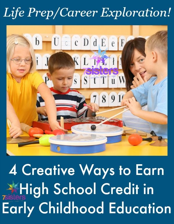 4 Creative Ways to Earn High School Credit in Early Childhood Education