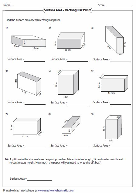 51 best Unit 5 Area and Volume images on Pinterest | Surface area ...