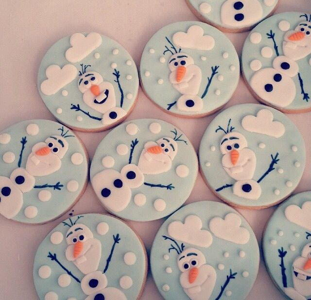 Olaf cookies or cupcake toppers