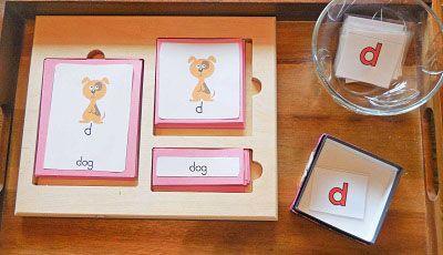 Lower Case Alphabet 3-Part Cards