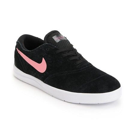 Get fitted in classic style and start skating like one of the greatest in  the Nike Eric Koston 2 Lunarlon black, pink and white skate shoe.