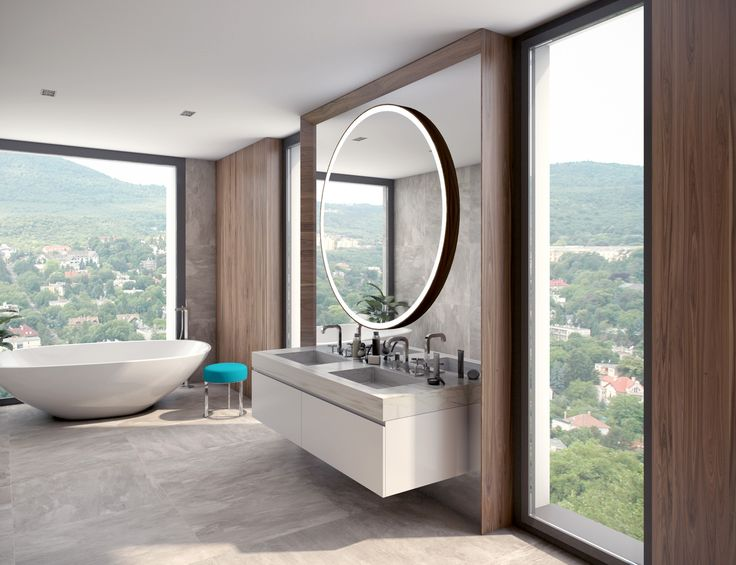 bathroom with panorama