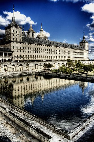 El Escorial Museum  Madrid, Spain a huge building holding monastery, library, and burial places of spanish kings