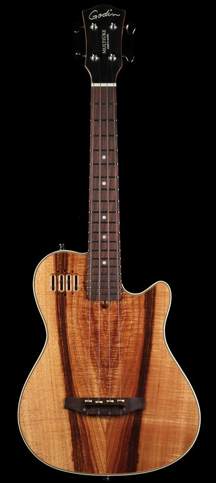 GODIN Koa Multi Uke #LardysUkuleleOfTheDay ~ https://www.pinterest.com/lardyfatboy/lardys-ukulele-of-the-day/ ~