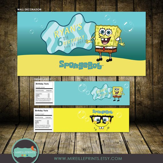 Magnificent Spongebob Wall Decor Pattern - Wall Art Design ...