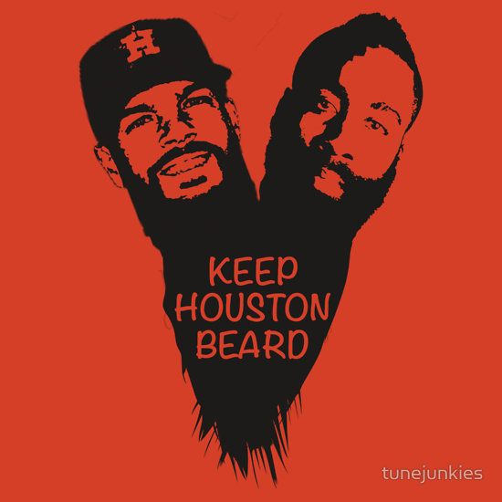 Keep Houston Beard by tunejunkies, Dallas Keuchel, James Harden, Houston Astros, Houston Rockets