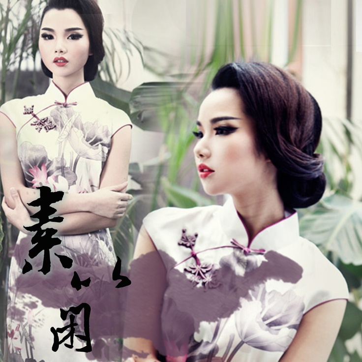 #29 - The mind of a lotus - Read full story: http://www.elegente.com/fashion-white-lotus-printed-qipao-dress.html