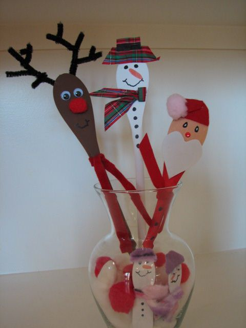 25 unique christmas characters ideas on pinterest for Wooden spoons for crafts