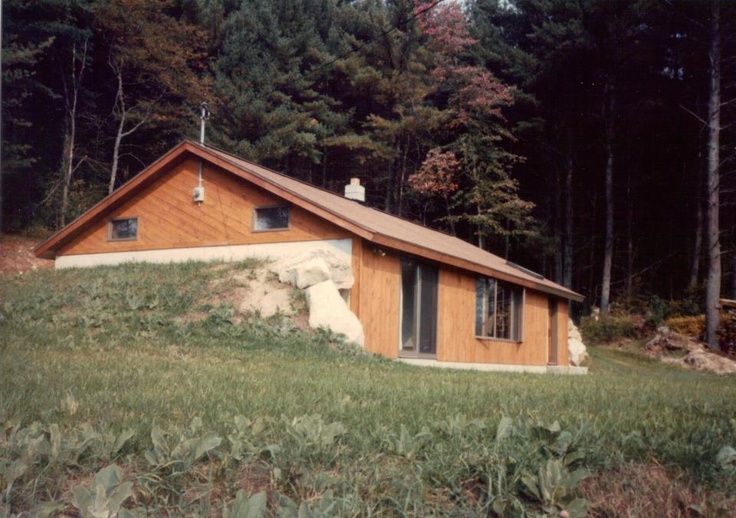My first home passive solar earth bermed ranch in grafton Earth bermed homes