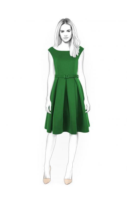 Lekala 4400 - Kleid PDF Muster, Nähmuster PDF, Maßgeschneiderte Schnittmuster für den Privaten und Kommerziellen Gebrauch