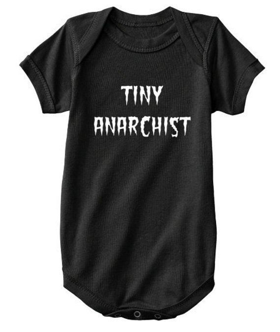 Unisex Baby Onesie Tiny Anarchist Bodysuit Boy Girl Color Size Options Baby Shower Gift Small Infant Toddler Humor Fu Baby Onesies Onesies Cute Baby Dresses
