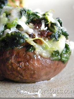 Spinach & Sausage Stuffed Mushrooms #recipe