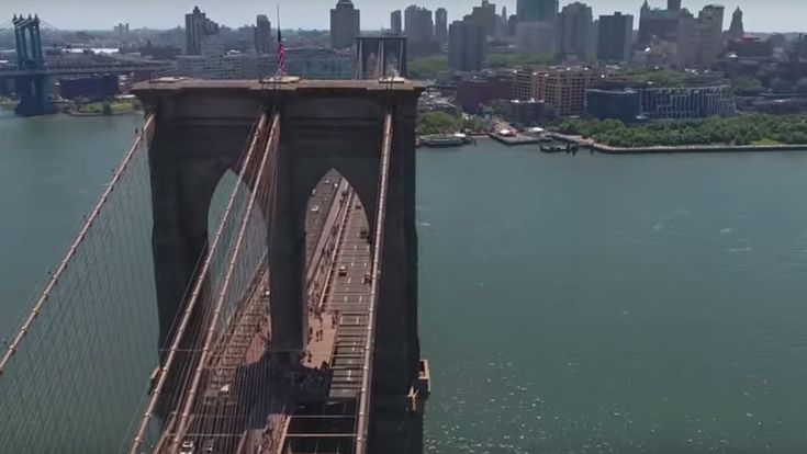 """Need a brief diversion from the workday? Let this drone video of New York City provide a few minutes of pleasant distraction. Set to the soundtrack of Notorious B.I.G.'s """"Sky's the Limit,"""" the video is rather lovely and calming."""