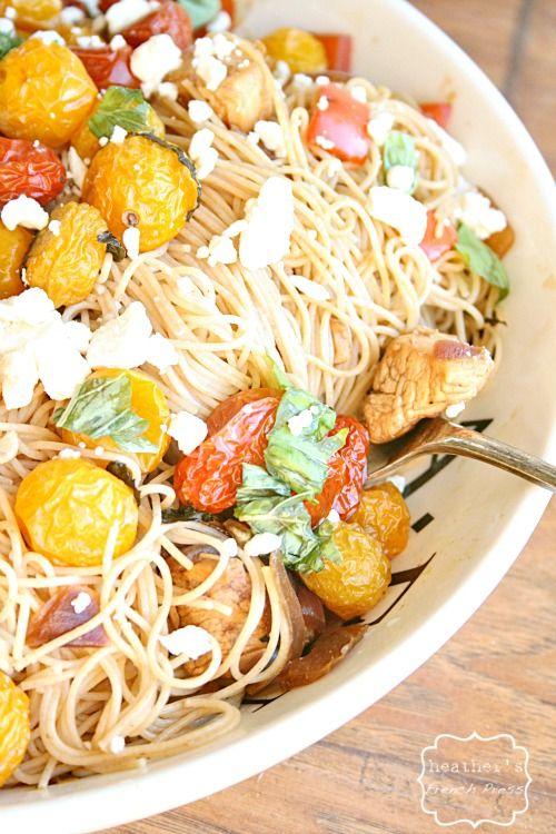 Mediterranean style pasta Salad heathersfrenchpress.com #summerpastabilities #hodgsonmill