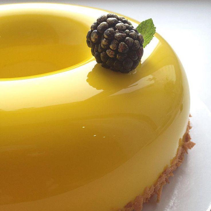 bolo espelho amarelo