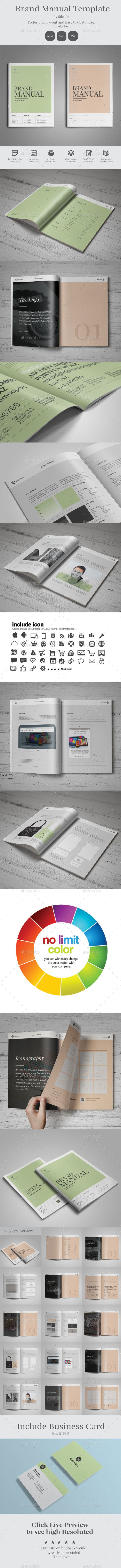 Brand Manual Guidelines #manual #guidelines #branding http://graphicriver.net/item/brand-manual/14040938