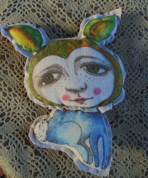 Deko-Objekte - ein Kaninchen...nr 2 - ein Designerstück von feicht bei DaWanda