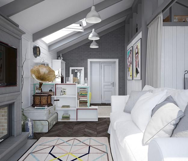 Attic bedroom design and decorating is a challenging and fun project