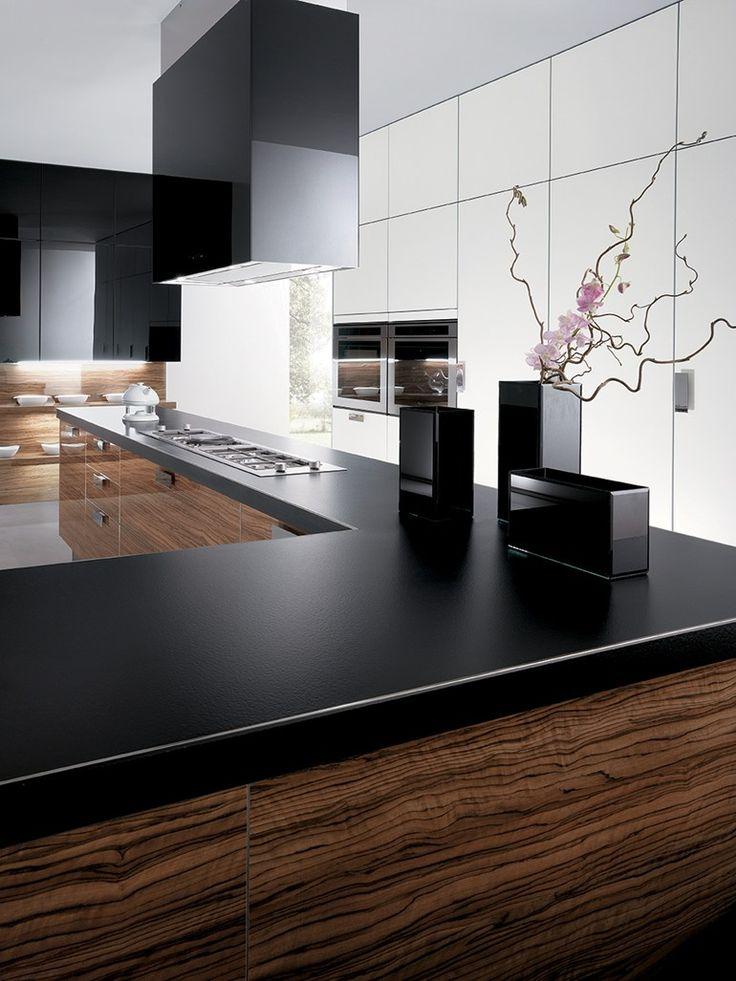Modular fitted #kitchen with island ELBA by Biefbi