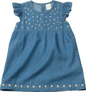 alana kinder kleid, gr. 92, in bio-baumwolle, blau, 1 st