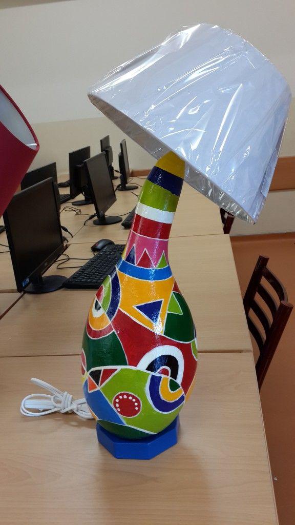 Su Kabak Boyama 3 Süs Kabagı Gourd Art Gourd Lamp Ve Vases Decor