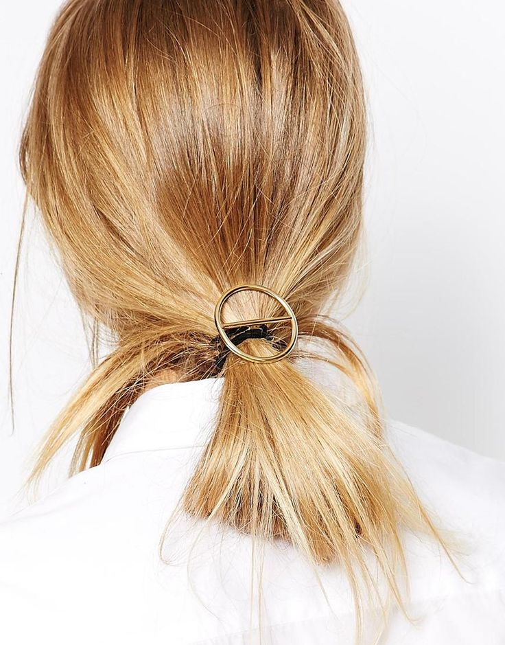 Hair tie by ASOS Collection Gold-tone finish Open circle design Elasticated band Stretch fit 80% Iron, 15% Nylon, 5% Rubber Click here to view our full range of Hair Accessories