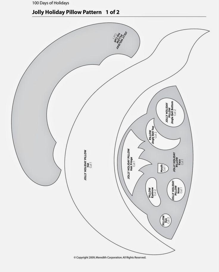 feltro+almofada+papai+noel+molde.jpg (1290×1600)