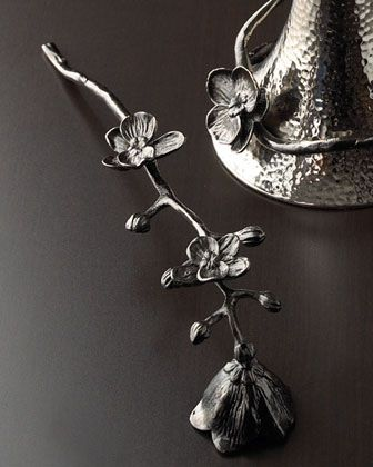 Black Orchid Candle Snuffer by Michael Aram at Horchow.