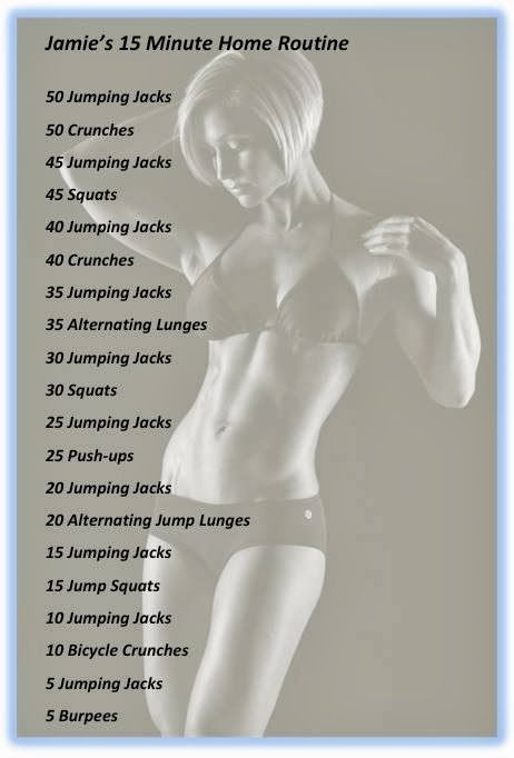 Jamie Eason's 15 Minute Home Routine (complete 2 rounds for a quick, perfect home workout)
