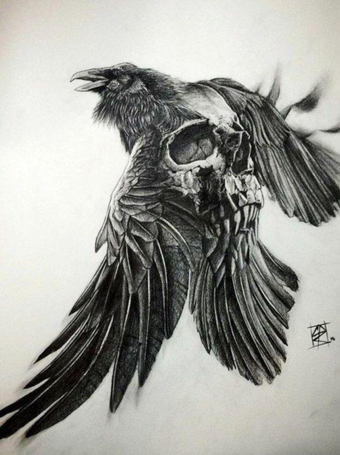 Quel Symbole Famille Tatouage Idee Tatouage Homme Aigle Et Crane Tatouage Effra Norse Tattoo Tattoos Viking Tattoos