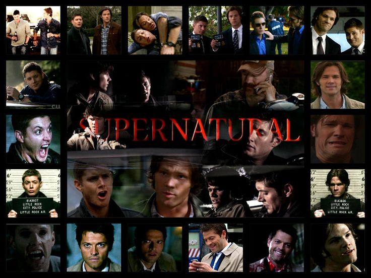 Supernatural Collage Supernatural Pinterest Collage