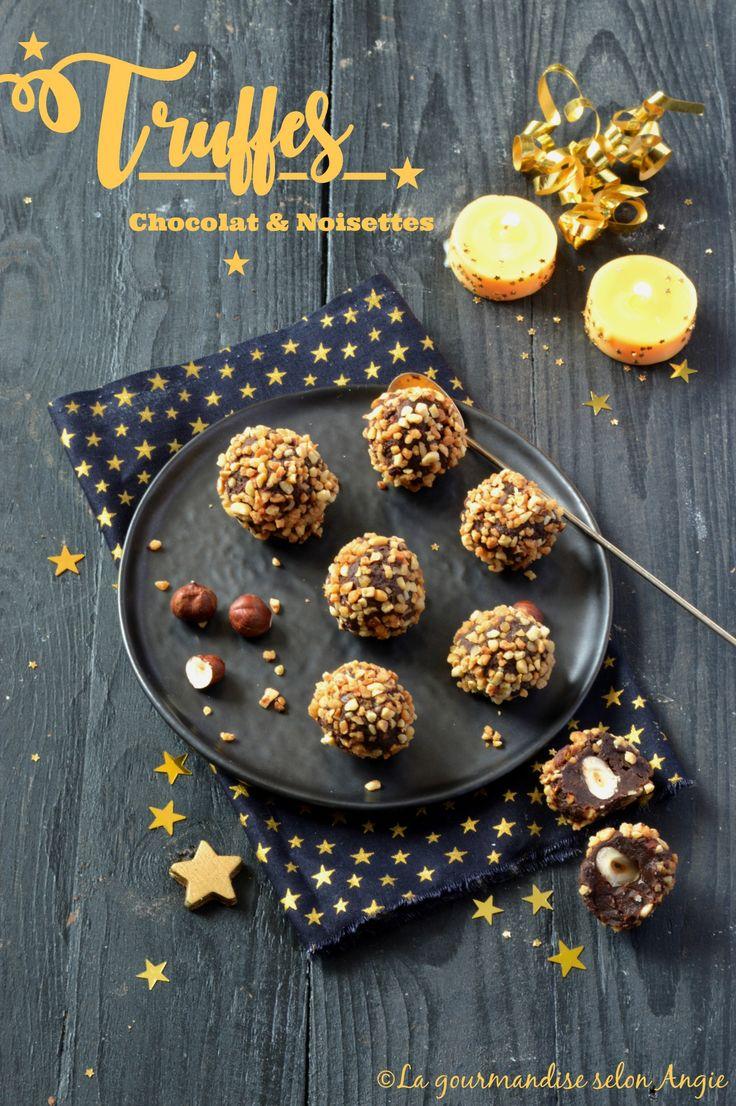 truffes chocolat noisettes vegan noël