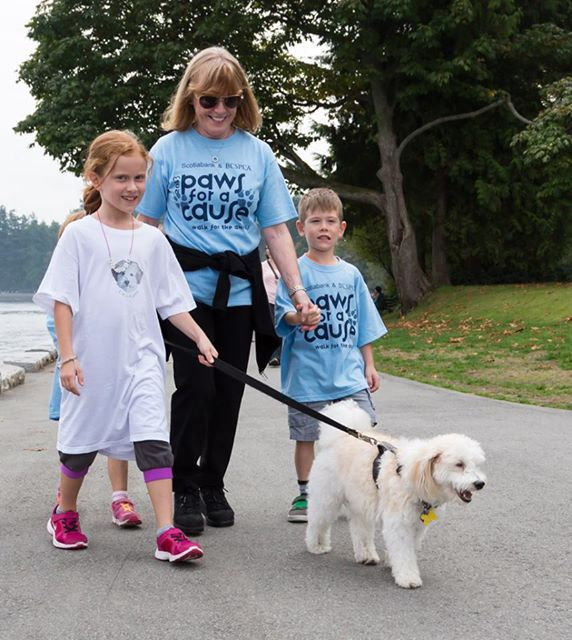 The 2014 Scotiabank  BC SPCA Paws for a Cause is an event for the whole family!  Did you know that it's FREE for youth 17 and under to sign up? Plus, children 13 and under who raise $15 or more will receive a one-year BC SPCA Kids Club membership (www.spca.bc.ca/kidsclub).   Sign up today at www.spca.bc.ca/walk.   (photo by Shelley Dube)