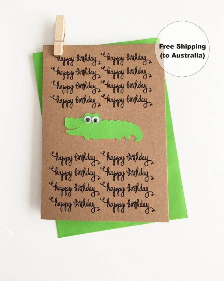 Cute Birthday Card – Happy Birthday Alligator Card – Cute Crocodile Birthday Card – Kids Birthday Card – Crocodile Happy Birthday Card by SweetCCDesign on Etsy https://www.etsy.com/au/listing/499719416/cute-birthday-card-happy-birthday
