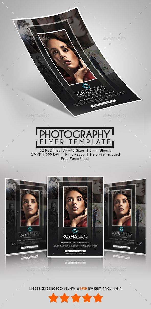 Best Photography Flyer Design Images On   Font Logo