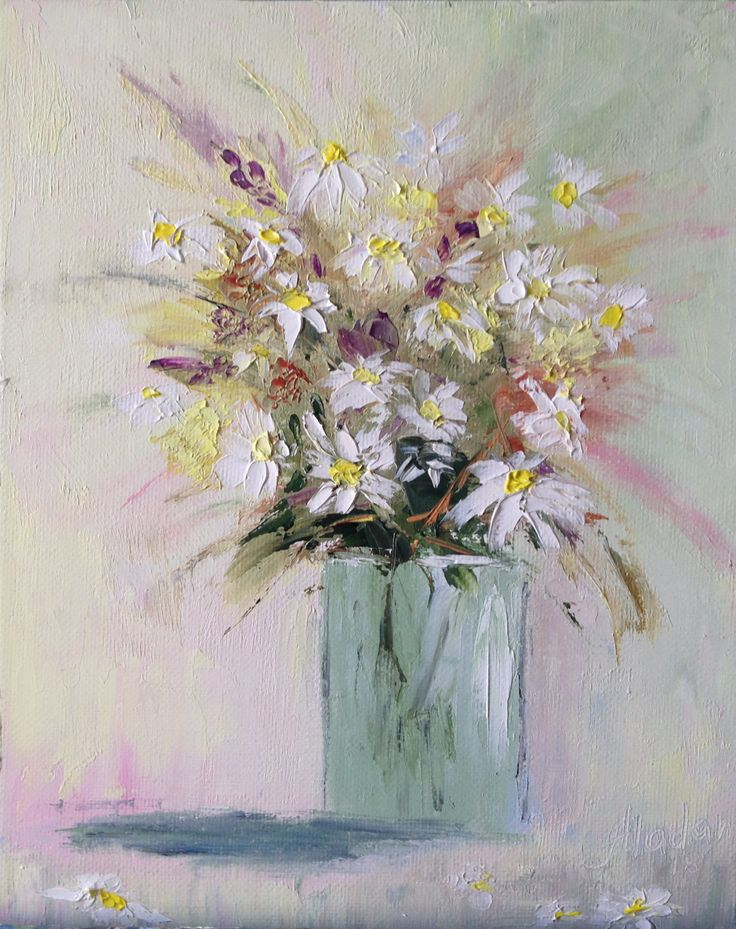 View Daisies in vase by Alina Madan. Browse more art for sale at great prices. New art added daily. Buy original art direct from international artists. Shop now