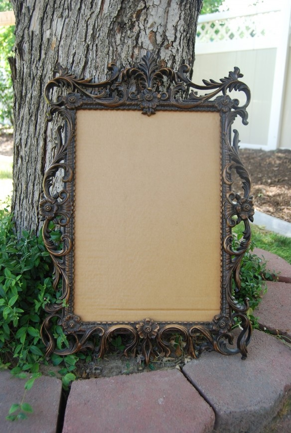 Fancy Framed Burlap Cork Board
