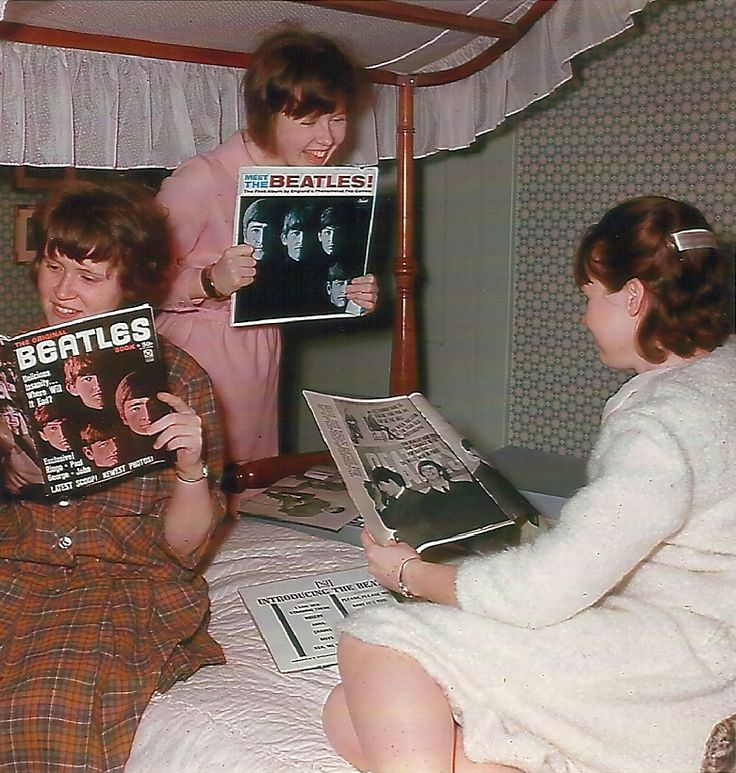 Sharing your favorite Beatle things with your friends in 1964 was something most all of us did. My Ricky Nelson and Bobby Rydell photos came down and up went new Beatle ones all around my room!