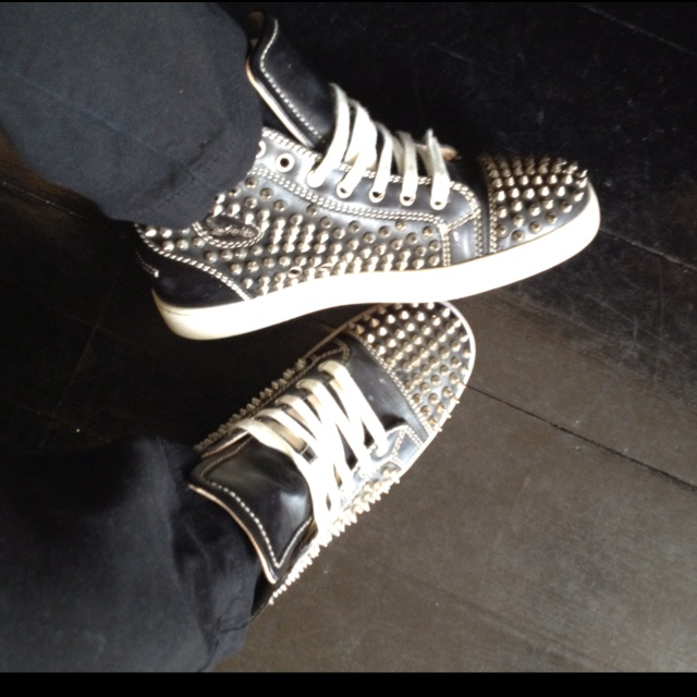#ChristianLouboutin's Louis flat spike sneakers. I'm very lucky!
